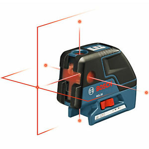 Bosch Gcl25 5 point Self Leveling Alignment Cross line Laser 3x New