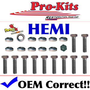 Fits 426 Hemi Exhaust Manifold Bolt Kit Correct Head Markings W conical Washers