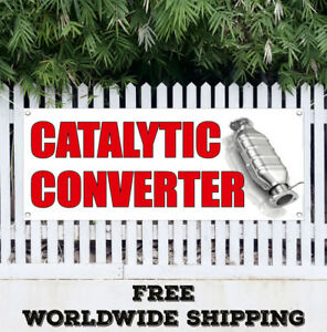 Banner Vinyl Catalytic Converter Advertising Sign Flag Many Sizes