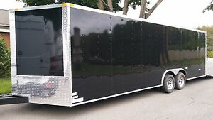 2018 8 5x24 V nose Car Hauler Storage Enclosed Cargo Trailer
