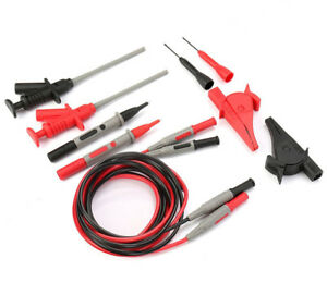 Set Car Multimeter Pen Insulated Piercing Cables Alligator Clip Test Hook Probes
