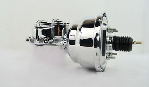 7 Street Rod Single Power Brake Booster W Dual Bowl Master Cylinder Chrome