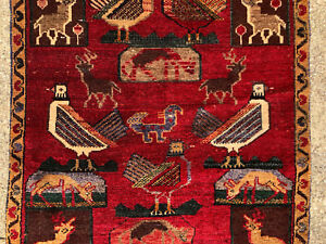 3x9 Persian Runner Rug Wool Hand Knotted Iran Hunting Rugs Antique 3x10 2x9 2x10