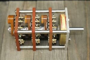 3 Pole 12 Position 3 Deck Rotary Switch Square The Daven Co 317 cb 12