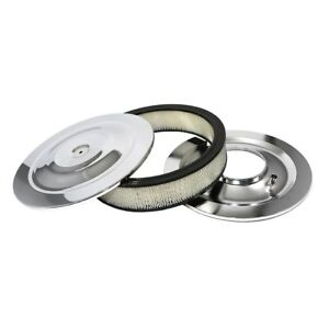 Air Cleaner Assembly Chrome 14 Round 5 1 8 Neck Flat Base W 3 Paper Filter