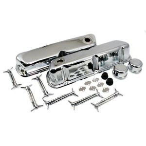 Chrome Ford Valve Cover Dress Up Kit 62 85 Sbf 260 289 302 351w 5 0 Small Block