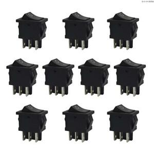 Kara Rocker Switch Dpdt 2 Position On on 10a 125vac 6a 250vac 10 Pcs