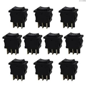 Rocker Switch Dpdt 3 Position On off on 10a 125vac 6a 250vac 10 Pcs