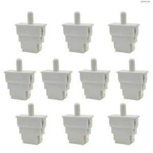 Toolots Door Light Switch White Refrigerator Spst Nc Momentary On off 10 Pcs