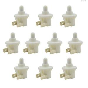 Toolots Door Light Switch Round Refrigerator Spst Nc Momentary On off 10 Pcs