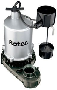 Flotec Fpzt7450 3 4 Hp Zinc Submersible Sump Pump W Vertical Float Switch