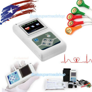 New 2018 Dynamic 24h Holter Ecg System 3 channel Ecg Recorder Sync Pc Software