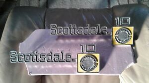 1973 1980 Chevy Truck Parts Scottsdale 10 Emblems Badges Trim Vintage Original