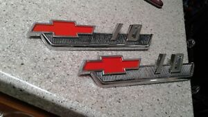 1960 s 1962 Chevy Truck Parts C 10 Emblems Badges Trim Original Oem Vintage
