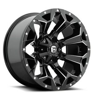 New 4 Off Road 18 Fuel Wheels D576 Assault Gloss Black Milled Rims Fh