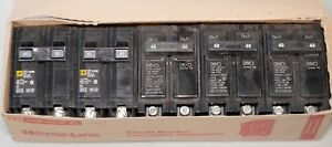 Lot Of 5 Circuit Breakers 2 Pole 40a 3 Cutler Hammer Br240 2 Square D Hom240
