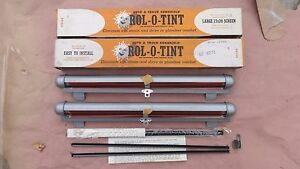 Nos Rol o tint Sun Shields Window Screens Shades Vintage Lowrider Bomb Chevy Gmc