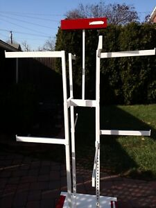Large Clothing Rack Rolls On Base Easy Set Up 8 Different Hangers Nice