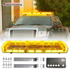 48 88led Roof Light Bar Tow Truck Emergency Beacon Warning Plow Strobe Amber
