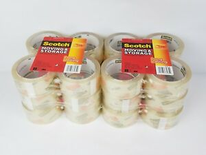 3m Scotch Moving Storage Packing Tape 24 Rolls Shipping Packaging