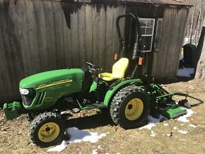 2010 John Deere 2520 Diesel 4x4 704hrs Tractor With Land Pride 60 Finish Mower