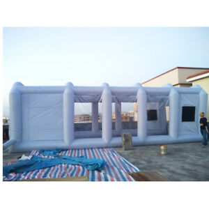 33x16x11ft Inflatable Spray Mobile Custom Tent For Car Paint Booth Kit Air Fan
