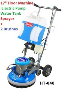 17 Floor Machine Scrubber With Water Pump And Front Sprayer Carpet Cleaning New