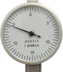 Gauge With 2 Clamps And Box 0 To 0 0005 Inch Dial Test Indicator
