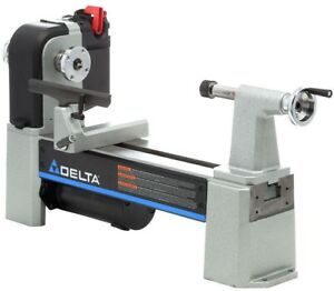 Delta 12 1 2 In Midi lathe Variable Speed Wood Lathe Turns Spin Machine Tool