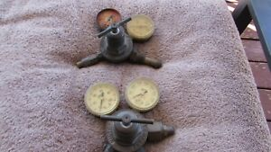 Very Old Vintage Brass Victor Tank Gauge Set For Repair Sr 250 c