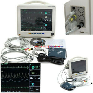 Usa Medical Portable Vital Sign Patient Monitor Ekg Ecg Nibp Spo2 Resp Pr 6 Para