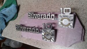 1973 1980 Chevy Truck Parts Silverado10 Emblems Badges Trim Original Oem Vintage