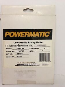 Powermatic 2000lpr Low Profile Riving Knife For The Pm2000 1791787