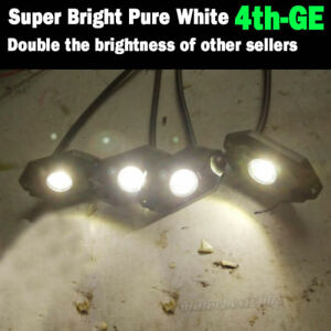 8 Pods White Cree Led Rock Lights Wiring Harness Strobe Chasing Offroad Trucks
