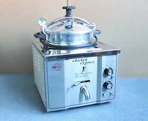 16l Stainless Steel Commercial Electric Pressure Fryer Cooker 0 200 c 220v