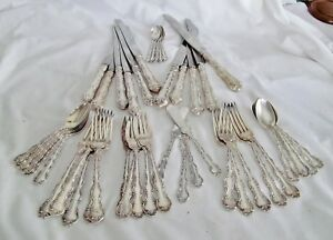 Lot 44 Pcs Gorham Sterling Silver Strasbourg Flatware Silverware Not Scrap