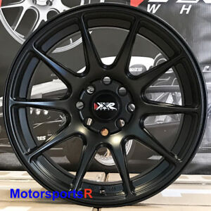Xxr 527 Flat Black 16x8 20 Wheels Rims 4x100 Stance 95 02 Honda Civic Si Ex Lx