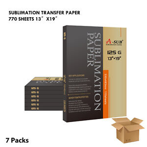 A sub 660 Sheets Dye Sublimation Ink Heat Transfer Paper 13 x19 Inkjet Printer
