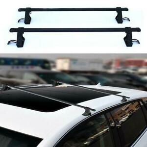 54 Universal Top Roof Rack Rail Cross Bars Luggage Carrier Car Suv Truck Jeep