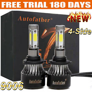 4 Sided 9006 Hb4 1020w 153000lm Cob Led Headlight Kit Light Bulbs 6000k Vs Hid