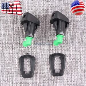 2x New Windshield Washer Water Spray Nozzle For 1998 2002 Honda Accord 2 3l 3 0l