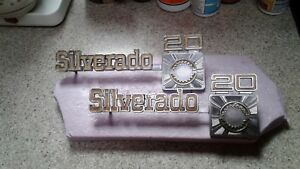 1973 80 Chevy Truck Parts Silverado20 Emblems Badges Trim Original Oem Vintage