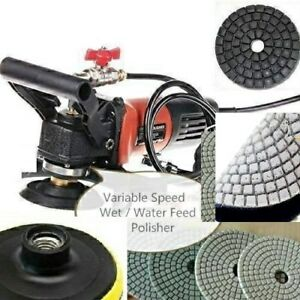 5 Inch Wet Polisher Concrete Polishing Pad 18 2 Buff Stone Granite Marble Repair