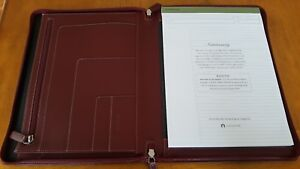 Levenger Leather Folio New Ambi Folio Letter Cranberry