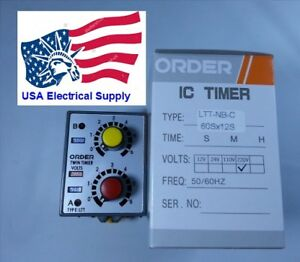 New Industrial Twin Timer Ltt nb c 220 Vac With Socket Base 8pin 50 60hz