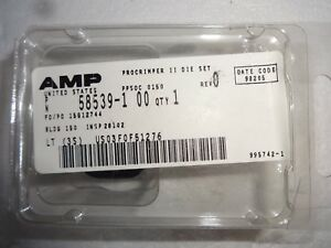 Amp Procrimper Ii Die Set 58539 1 50 Ohm Bnc Connectors Coax O crimp new