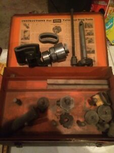 Sioux Valve Seat Ring Tool Valve Seat Ring Cutter Set With Box