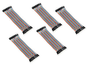 50x 40roots Male To Male 20cm 2 54mm Breadboard Jumper Wire Cable For Arduino Sr