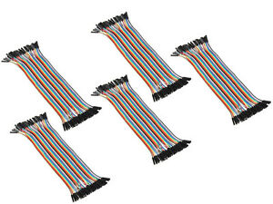 50x 40roots Female To Female 20cm 2 54mm Dupont Wire Jumper Cable For Arduino Sr