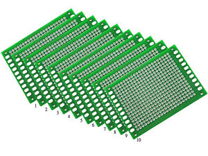 100x 5x7cm Pcb Double Side Universal Diy Strip Printed Circuit Board Prototype